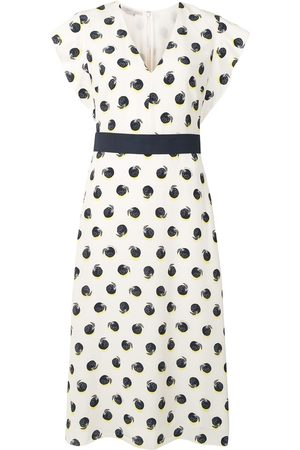 Stella McCartney Dames Geprinte jurken - Fruit print short-sleeve dress