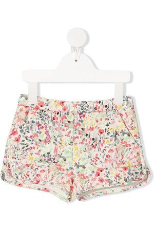 BONPOINT Meisjes Shorts - Floral-print cotton shorts