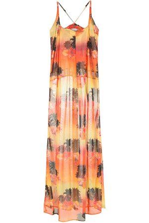 AMIR SLAMA Printed long dress