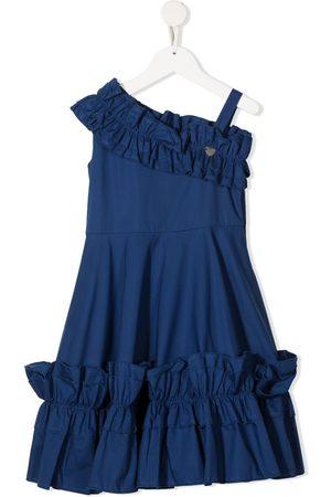 MONNALISA Meisjes Feestjurken - One-shoulder cotton dress