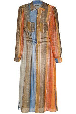 AMIR SLAMA Dames Zomerjurken - Silk shirt dress