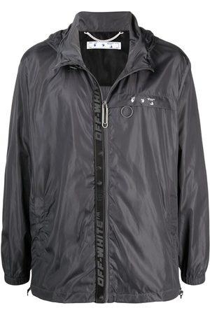 OFF-WHITE Heren Donsjassen - Industrial zip-up raincoat