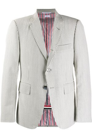Thom Browne Striped single-breasted blazer
