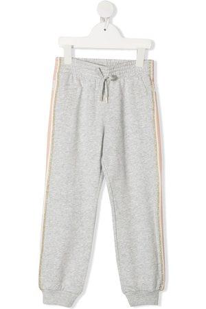 Chloé Jongens Joggingbroeken - Side-stripe track pants