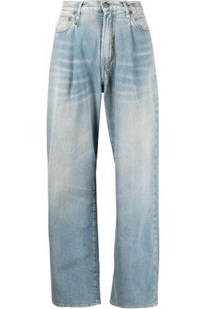 R13 Dames Wijde broeken - Damon pleated wide-leg trousers