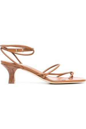 PARIS TEXAS Dames Sandalen - Square-toe leather sandals