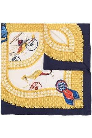 Hermès Sjaals - Pre-owned Carriage print silk scarf
