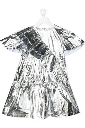 Le pandorine Metallic-tone asymmetric dress