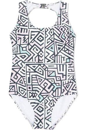 Le pandorine Meisjes Badpakken - Geometric print swimsuit
