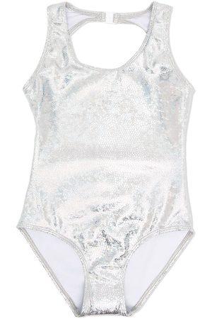 Le pandorine Metallic open-back swimsuit