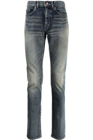 Saint Laurent Heren Straight - Whiskered skinny jeans