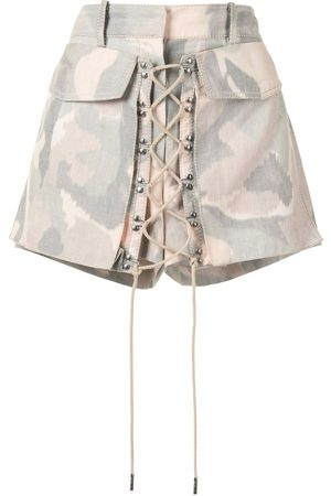 DION LEE Ikat camouflage shorts
