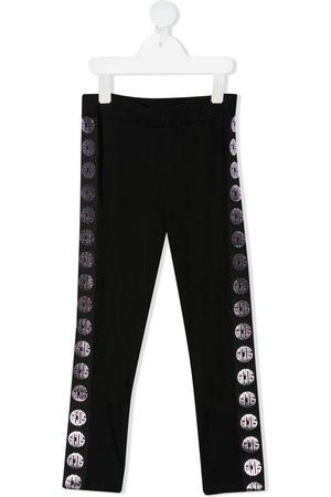 GCDS Meisjes Leggings - Logo stripe stretch-cotton leggings