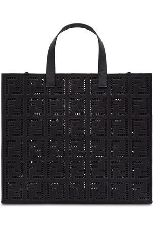 Fendi FF-embroidered large tote bag