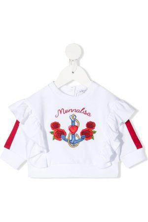 MONNALISA Sweaters - Embroidered-logo sweatshirt
