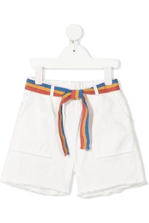 Zhoe & Tobiah Meisjes Bermuda's - Belted knee-length shorts