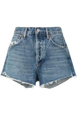 AGOLDE High rise denim shorts