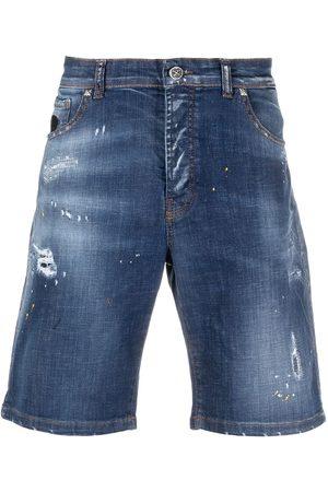 John Richmond Faded effect shorts