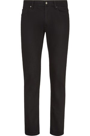 Fendi Heren Slim - FF embroidered slim-fit jeans