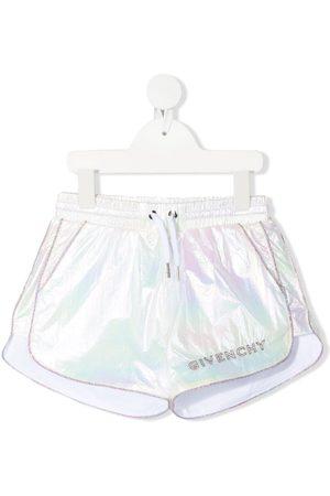 Givenchy Meisjes Shorts - Iridescent logo-detail shorts
