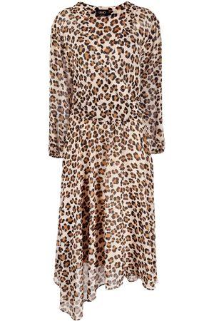 Liu Jo Dames Asymmetrische jurken - Leopard print asymmetric dress