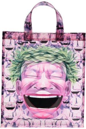 Comme des Garçons Heren Shoppers - Graphic-print transparent tote bag