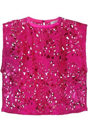 VALENTINO Lace sleeveless crop top