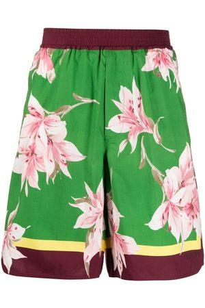 VALENTINO Floral print bermuda shorts