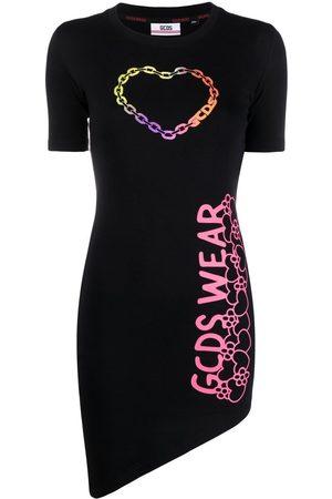 GCDS Logo-print T-shirt dress