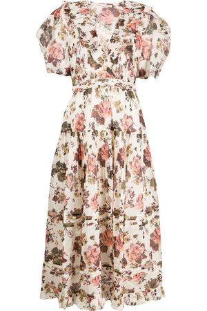 ULLA JOHNSON Dames Geprinte jurken - Dasha daisy-print dress