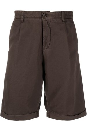 MYTHS Linen-cotton blend shorts