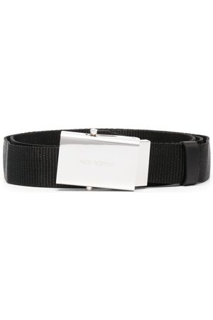 Neil Barrett Heren Riemen - Engraved logo belt