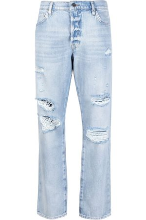 Frame Dames Straight - Distressed straight-leg jeans