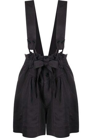 Isabel Marant Bow-detail dungaree shorts