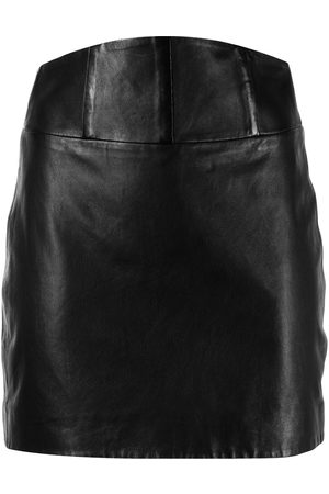 Michelle Mason Corset leather mini skirt