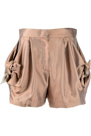 Emporio Armani Bow-detail fitted shorts