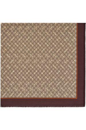 Gucci Heren Sjaals - GG Horsebit-print silk scarf