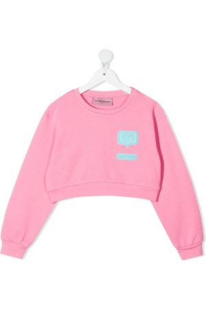 Chiara Ferragni Logo-patch cropped sweatshirt