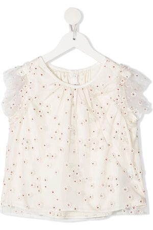 BONPOINT Meisjes Blouses - Floral embroidered blouse