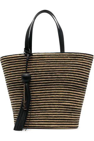 Saint Laurent Panier striped tote bag