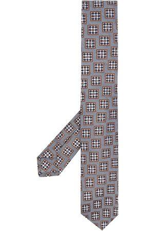 Kiton Heren Vlinderdassen - Geometric-embroidered tie