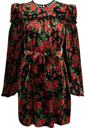 The Vampire's Wife Rose-print velvet dress