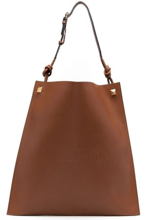 VALENTINO GARAVANI Heren Shoppers - Identity leather tote bag