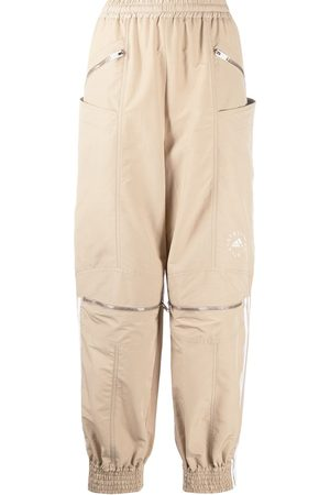 Stella McCartney Logo stripe zip front track pants