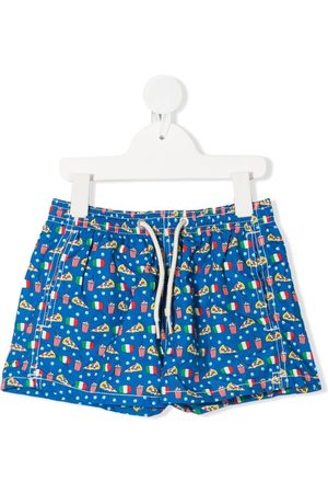 MC2 SAINT BARTH Graphic print drawstring swim shorts