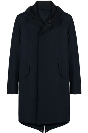 Harris Wharf London Heren Trenchcoats - Hooded mid-length trench coat