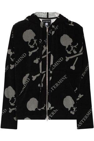 MASTERMIND JAPAN Heren Strings - Logo-print drawstring hoodie