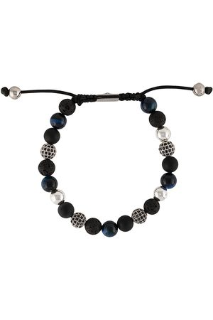 Nialaya Heren Armbanden - Textured beaded bracelet