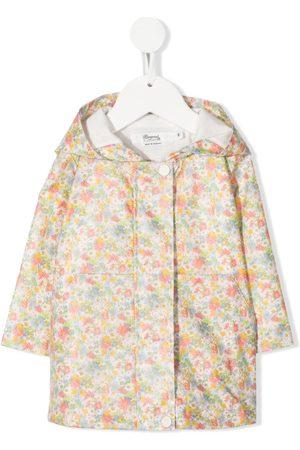 BONPOINT Donsjassen - Floral-print hooded raincoat