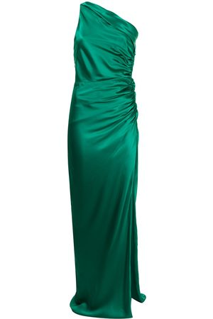 Michelle Mason Asymmetric gathered gown